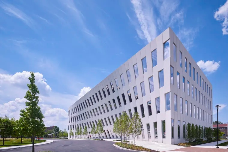 Rite Aid's Philadelphia Enterprise Headquarters and Collaboration Center is expected to open in the first six months of 2022 on the leased second floor of the Bjarke Ingels Group-designed inward-leaning building at 1200 Intrepid Ave.  in the Philadelphia Navy Yard. Rite Aid will have 23,000 square feet in the four-story building.  (Photo: Halkin Mason Photography)