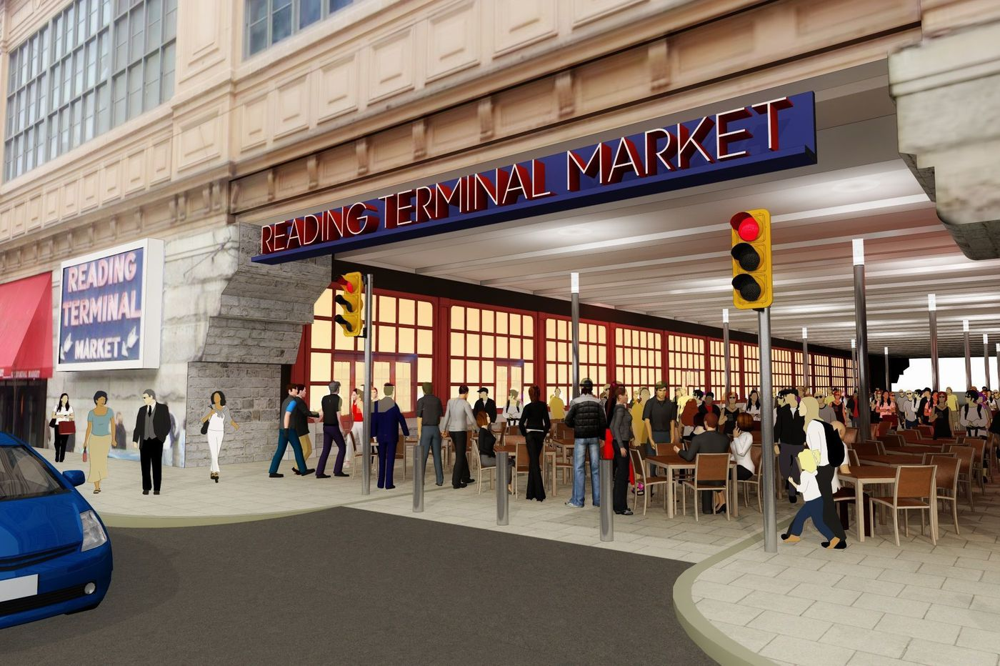 Outside Philly's Reading Terminal Market, a pedestrian plaza to come to Filbert Street