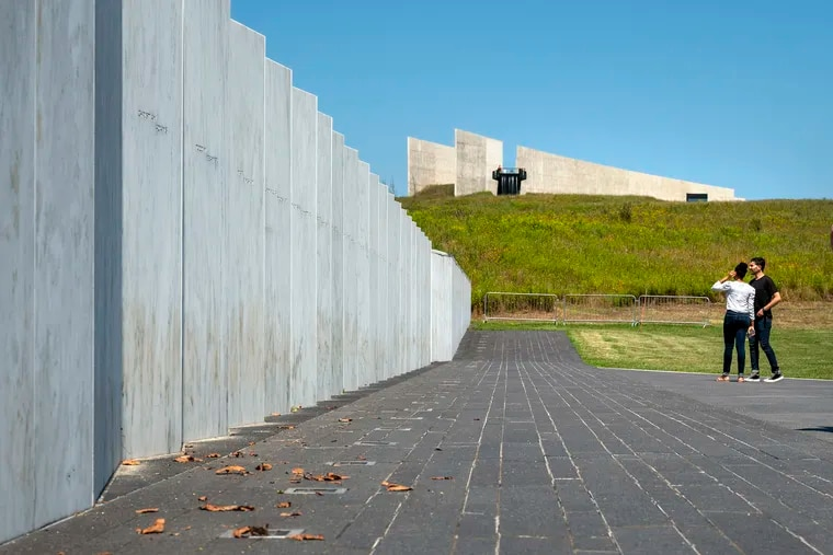 Memorial Plaza at the Flight 93 National Memorial near Shanksville, Pa., includes the Wall of Names, which features 40 white polished marble stones inscribed with the names of the passengers and crew of United Airlines Flight 93, one of four planes hijacked by terrorists on Sept. 11, 2001.