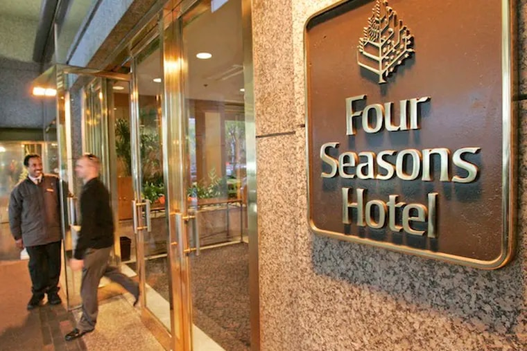 The front of the Four Seasons Hotel off of Logan Square. (Photo: Michael Bryant / Staff)