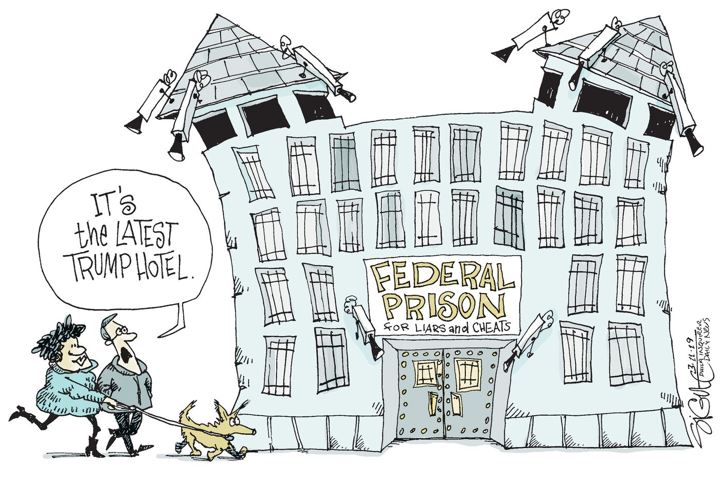 Political Cartoon: The new Trump Hotel