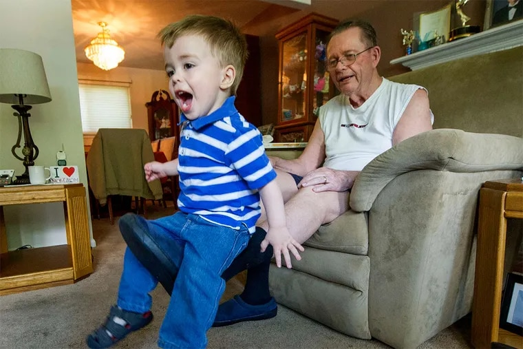 """Bill Lyon, with great-grandson Liam: """"I am blessed with a support group that is close at hand and ever vigilant."""""""