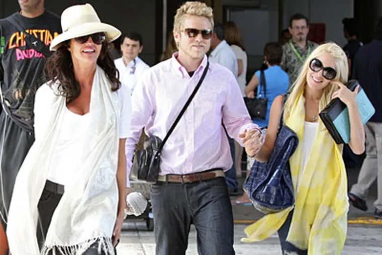 Spencer Pratt and Heidi Montag, with former supermodel Janice Dickinson. Are they moving to Trenton?