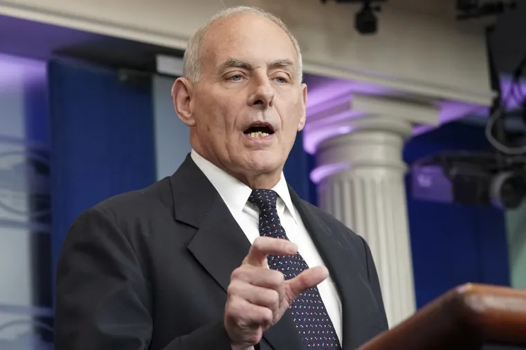 """White House Chief of Staff John F. Kelly called Robert E. Lee an """"honorable man"""" and said the Civil War could have been avoided through compromise."""