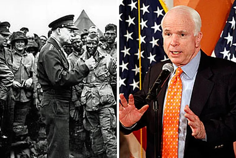 """Former President Dwight D. Eisenhower used his farewell address to warn of the power of the """"military-industrial complex."""" Sen. John McCain referenced Eisenhower this week regarding cutting the funding of the F-22 fighter jet."""