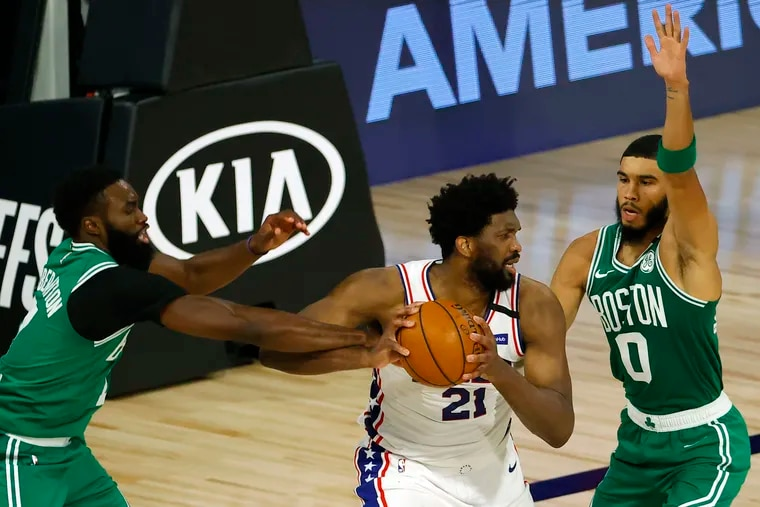 Joel Embiid (21) and the new-look Sixers face the Boston Celtics in Tuesday night's preseason opener.