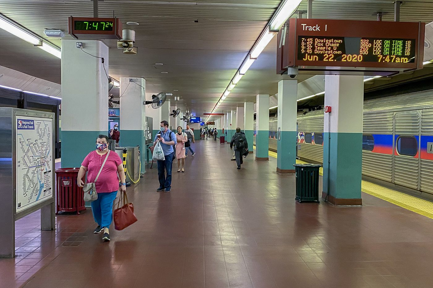 SEPTA Regional Rail is coming back, but many of its suburban riders are still working from home