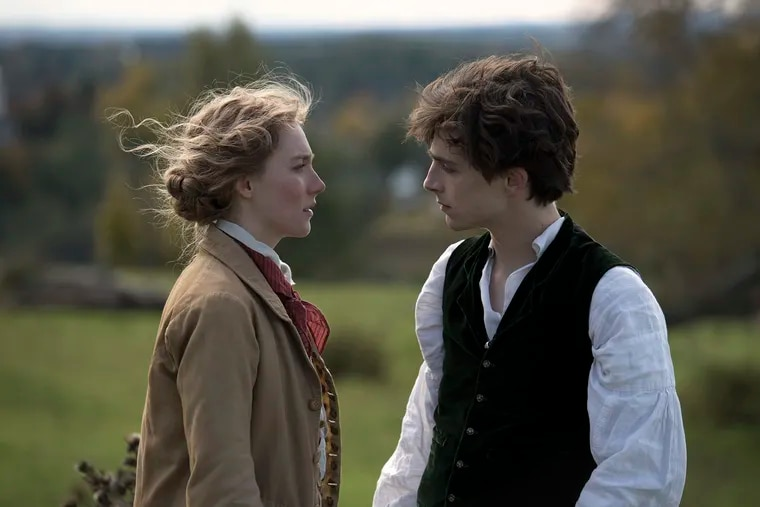 """Saoirse Ronan and Timothee Chalamet in the film """"Little Women."""""""