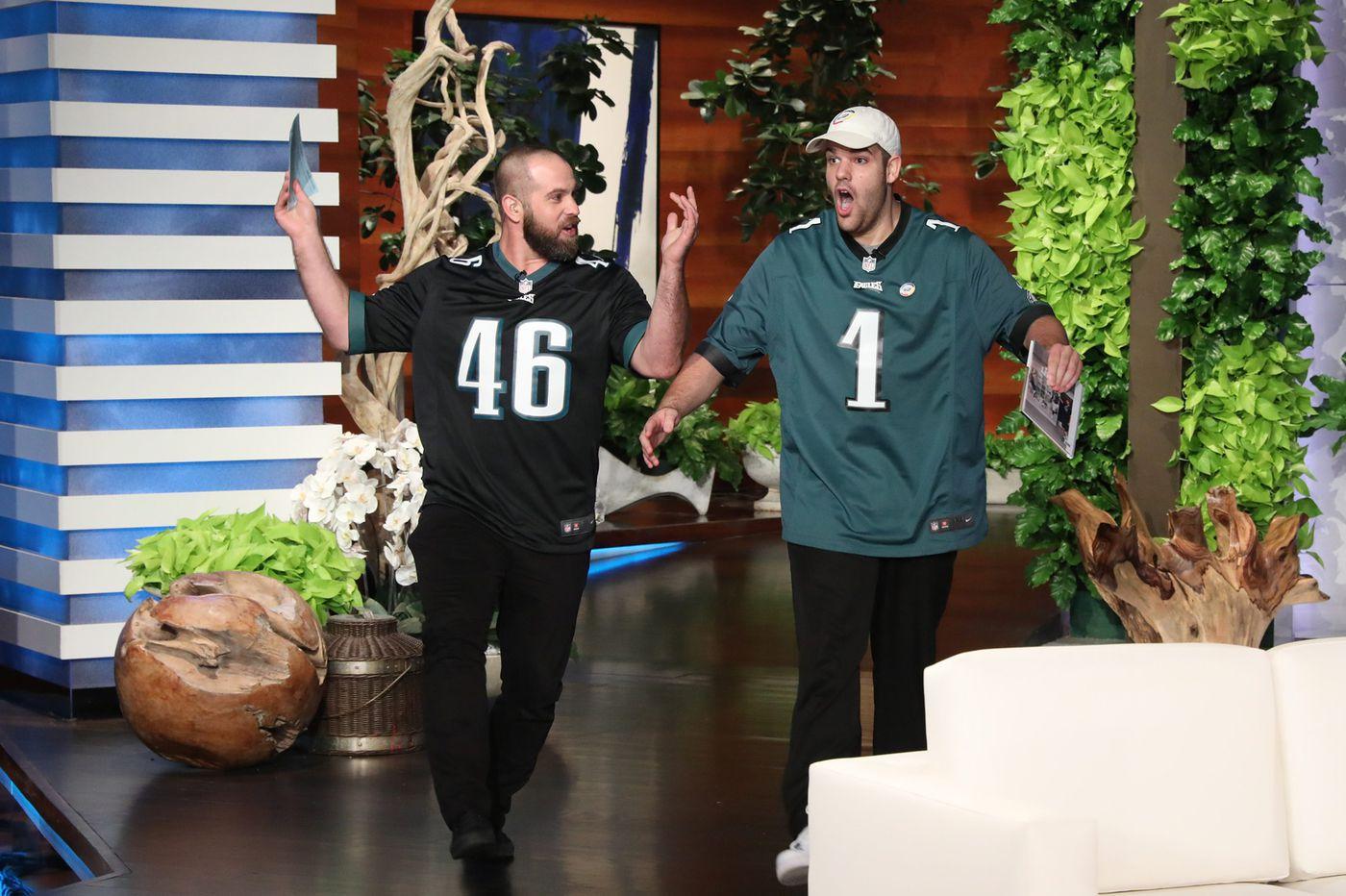 Jon Dorenbos, Ellen DeGeneres surprise Eagles Autism Challenge ambassador with $10k donation on 'Ellen'