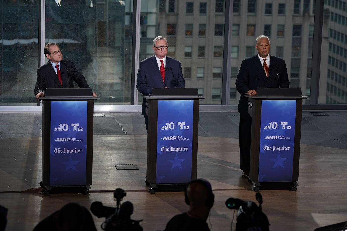 Mayor Jim Kenney spars with two Democratic challengers in primary's lone televised debate