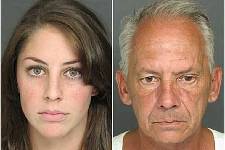 """Daria Calvecchio and John Calvecchio are charged in a $100,000 payroll scam. Daria won an MTV audition to cover a """"Lord of the Rings"""" premier."""