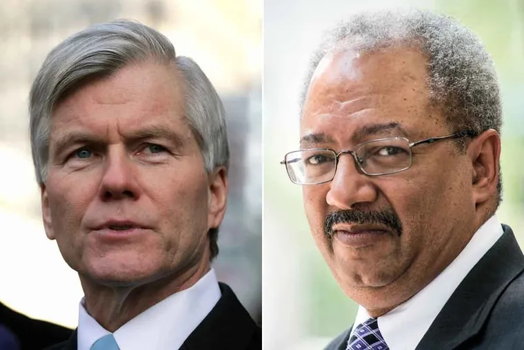 Former Virginia Gov. Robert McDonnell (left) and former U.S. Rep. Chaka Fattah.