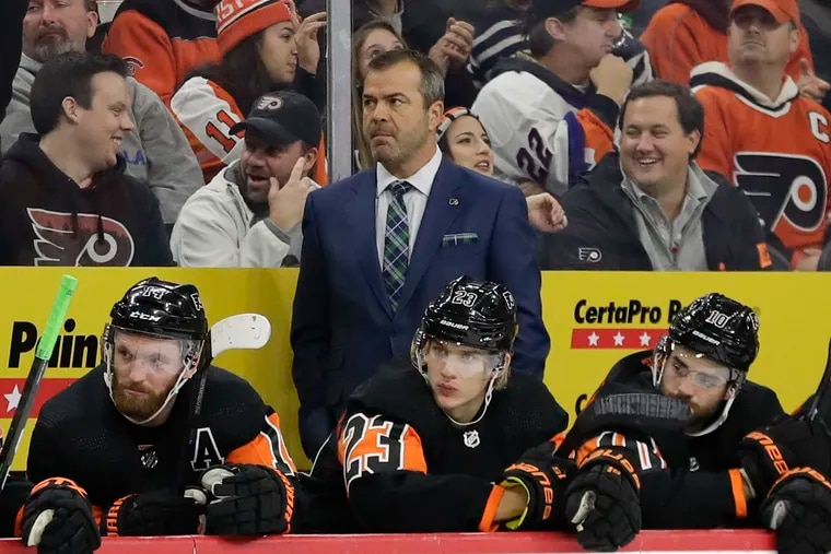 Flyers coach Alain Vigneault is not happy with his team's effort lately -- especially defensively.