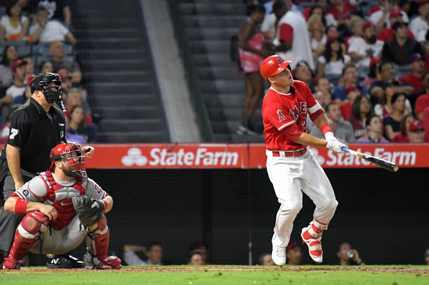 Angels crush Jake Thompson for three homers in Phillies loss