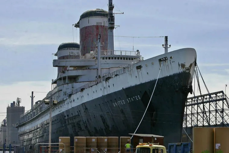 The SS United States has been docked for years at Pier 82 on the Delaware River.