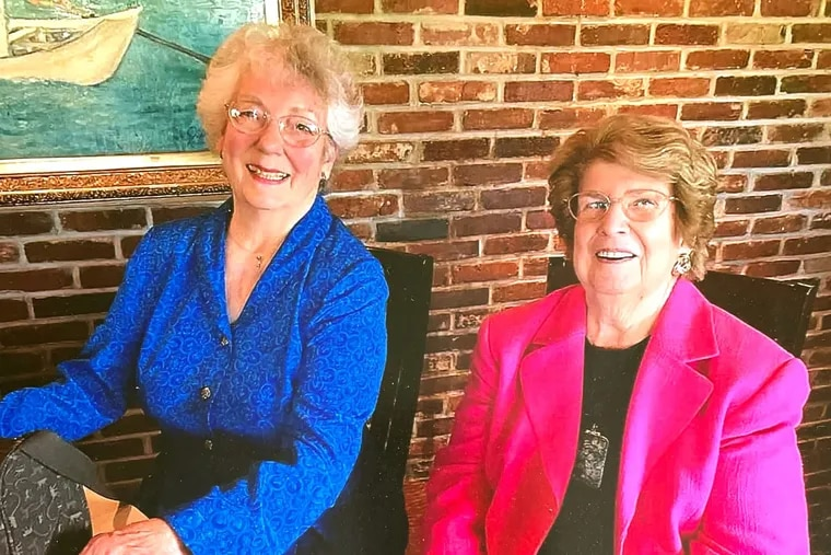 Susy Brandt (left) and Jane Krumrine (right). The two women have been friends since toddlerhood.