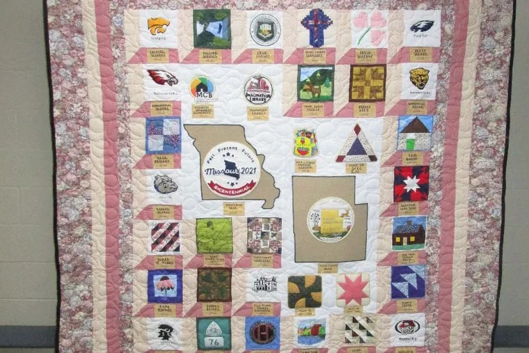 A quilt sewn by incarcerated quilters who volunteer to give back to the community. MUST CREDIT: Joe Satterfield.