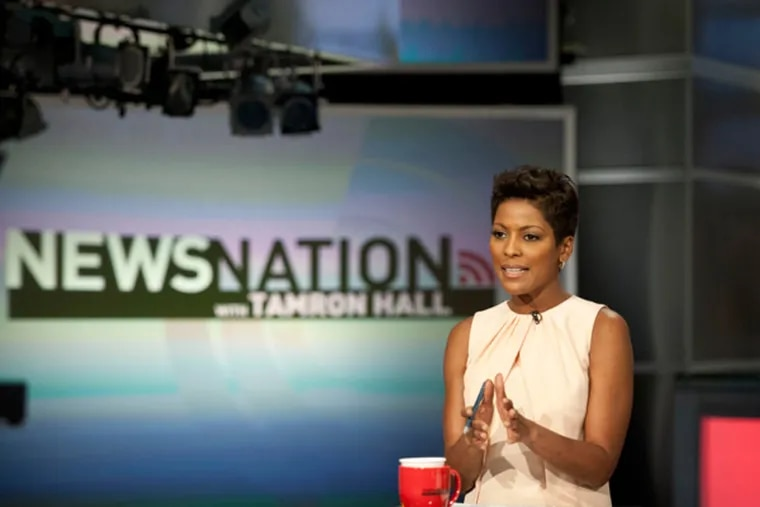 Tamron Hall, a graduate of Temple University, on the set of her MSNBC show News Nation. (RON TARVER / Staff Photographer)
