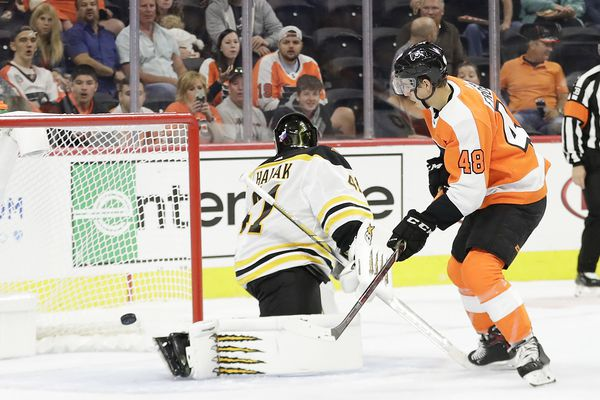 Morgan Frost gives strong showing, but Flyers lose to Bruins 3-1 and stay winless in preseason