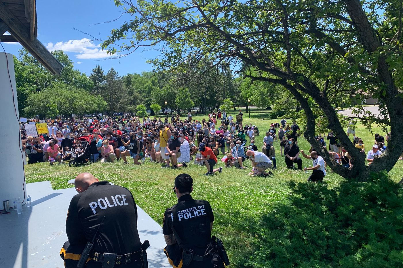'This town is changing': Gloucester City holds a Black Lives Matter protest march unlikely there years ago
