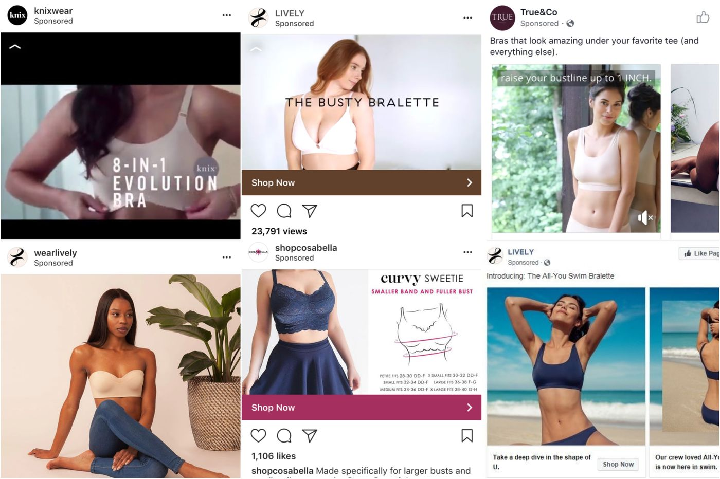 Can an online quiz deliver the perfect bra? These Instagram-famous companies think so