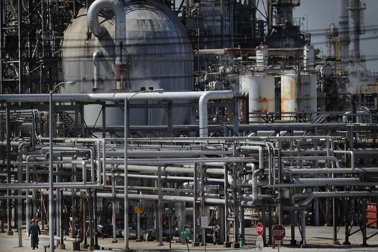 A view of the Philadelphia Energy Solutions on June 26, 2019 in Philadelphia, Pa. Mayor Jim Kenney on Wednesday said that PES plans to permanently close its oil refinery complex in South Philadelphia.