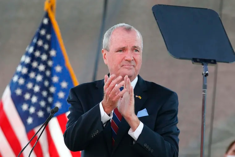 New Jersey Gov. Phil Murphy in August, during his 2021 budget address at SHI Stadium at Rutgers University in Piscataway, N.J.