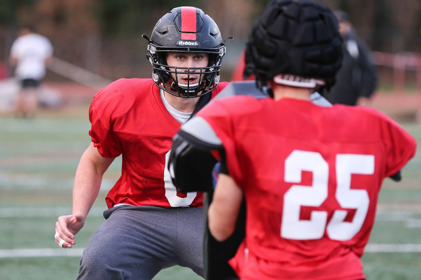 4b8a6e15b86 Haddonfield's Gabe Klaus (facing camera) is a two-time first-team All