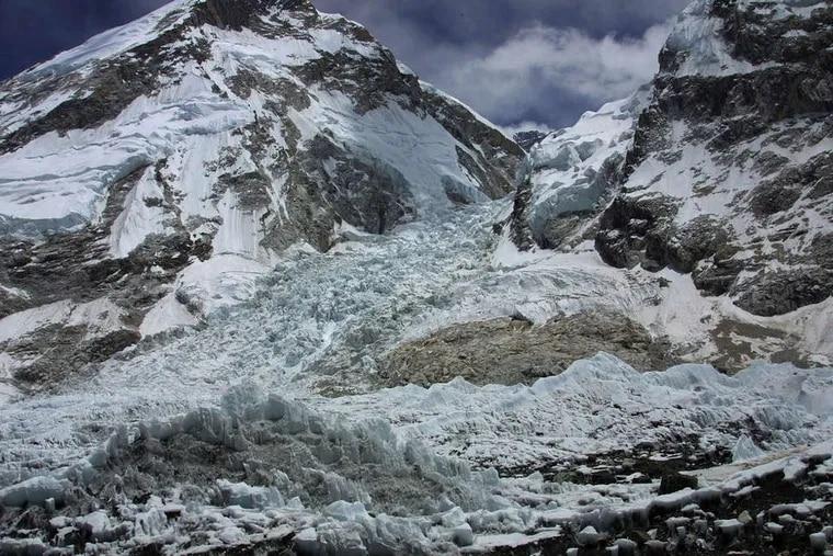 The Khumbu icefall , a treacherous passage where the avalanche hit Friday. AP