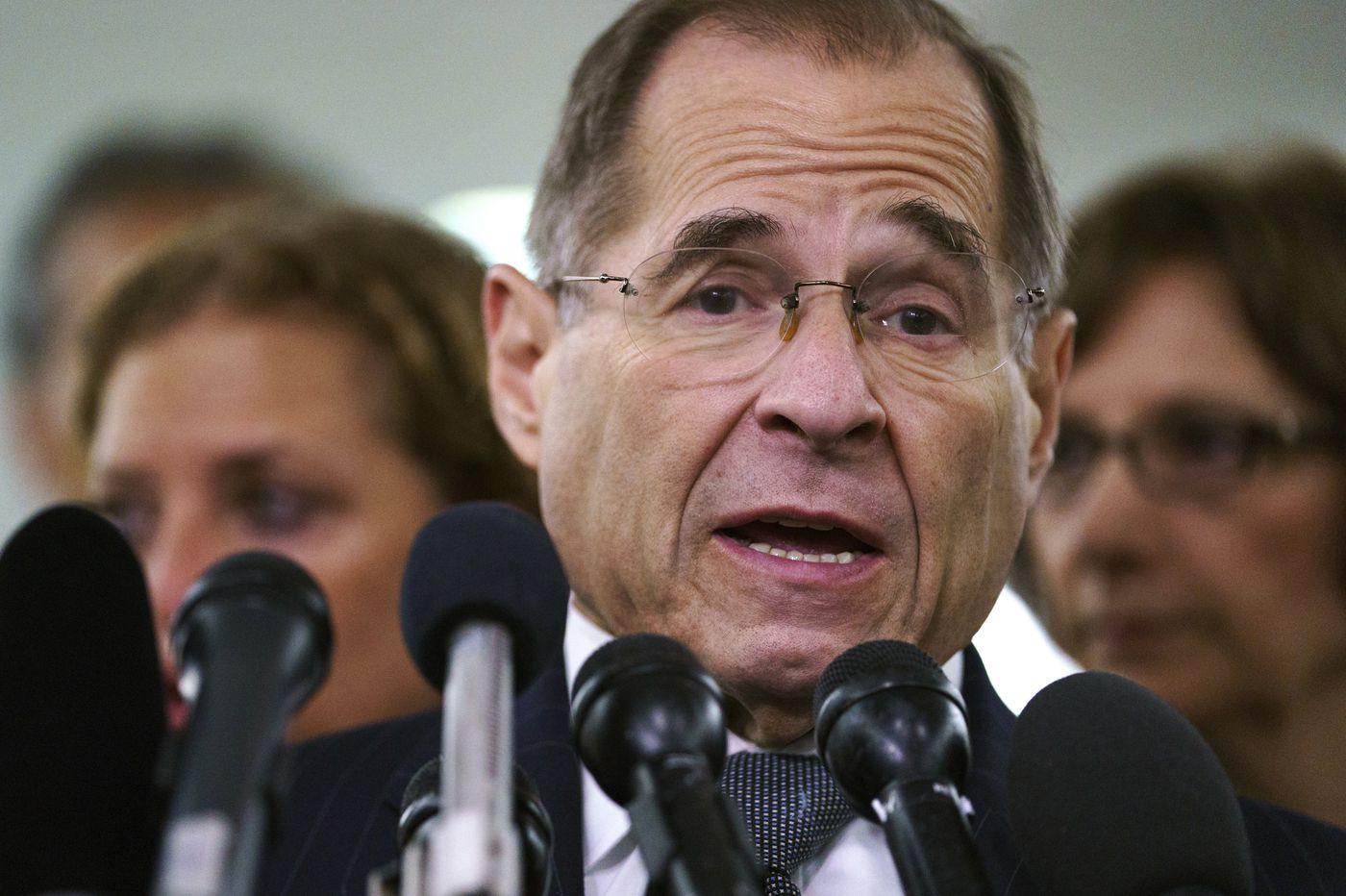 Top House Dems raise prospect of impeachment, jail for Trump