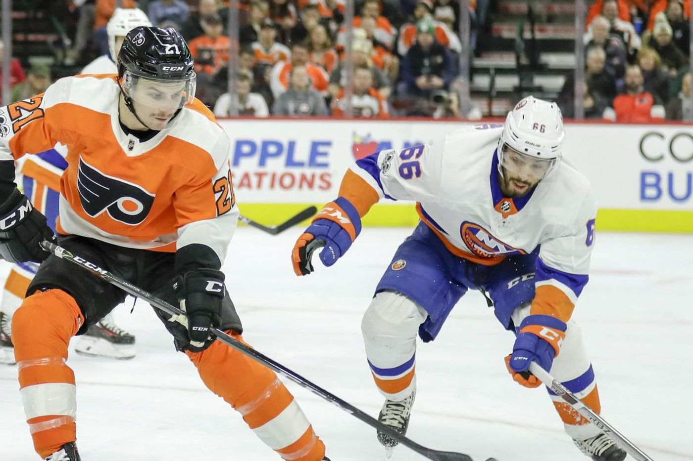 Snow won't stop Flyers-Islanders game; Tyrell Goulbourne won't play because of travel problems