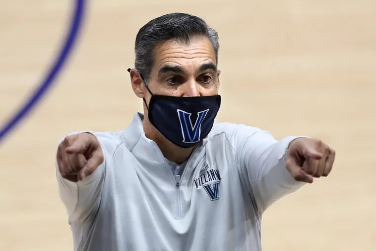 Villanova coach Jay Wright gestures toward his bench during a game last month against St. Joseph's.