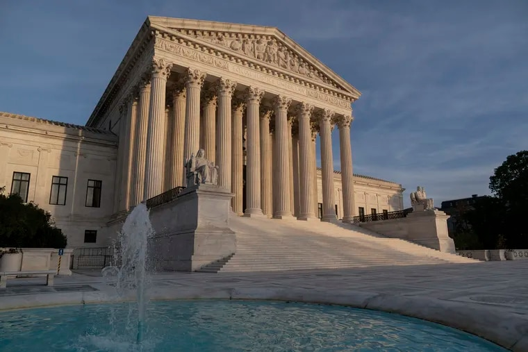 The Supreme Court is seen in Washington, Thursday afternoon, Nov. 5, 2020. (AP Photo/J. Scott Applewhite)