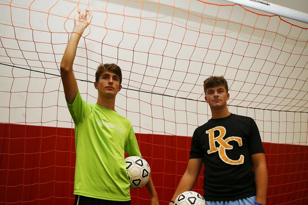 Kevin and Jimmy Tobin are following their brother's footsteps on the Roman Catholic soccer team