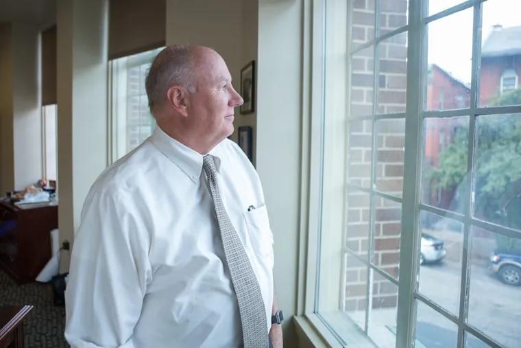 Rick Bloomingdale, leader of Pennsylvania AFL-CIO, in his office in Harrisburg.