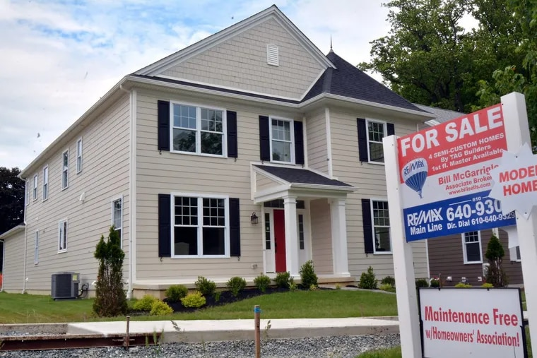 A new home for sale along South Warren Avenue and 2nd Street in Malvern in May. As building costs in cities continues to be an issue, economists predict that suburban sprawl will emerge again in 2018.