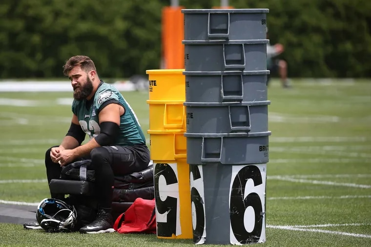 Eagles' center Jason Kelce was in mincamp at this time four years ago, but that won't happen for Kelce or any NFL player this year.
