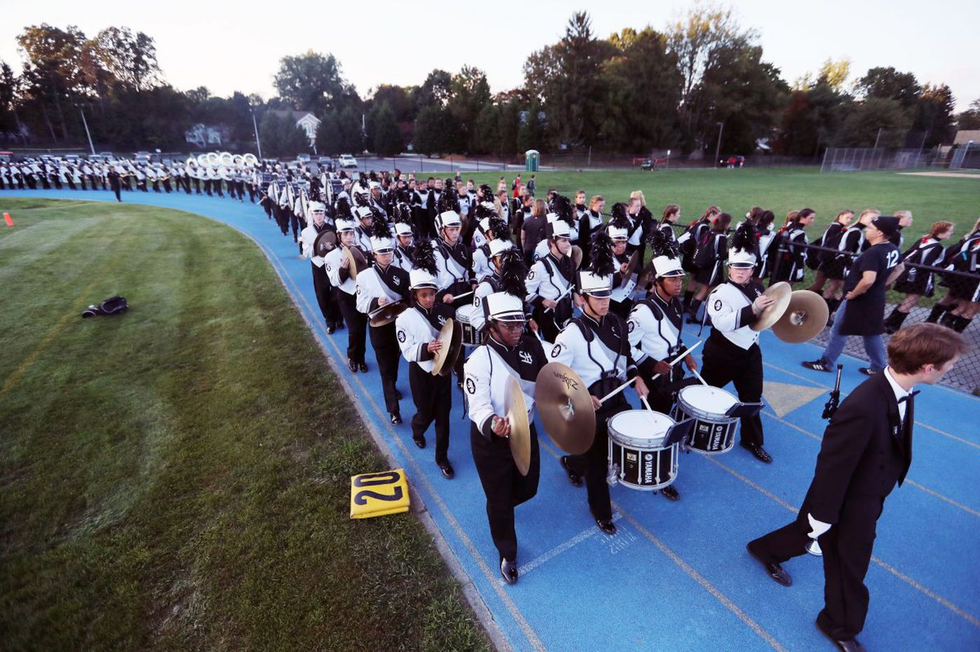 Strath Haven's huge marching band to serenade late director Jack Hontz
