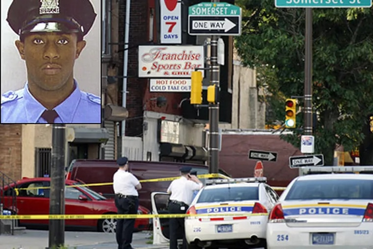 Police say a video from inside a bar shows guns being handed out before the shooting of Philadelphia Police Officer Ashley Hoggard. (Elizabeth Robertson / Staff Photographer)