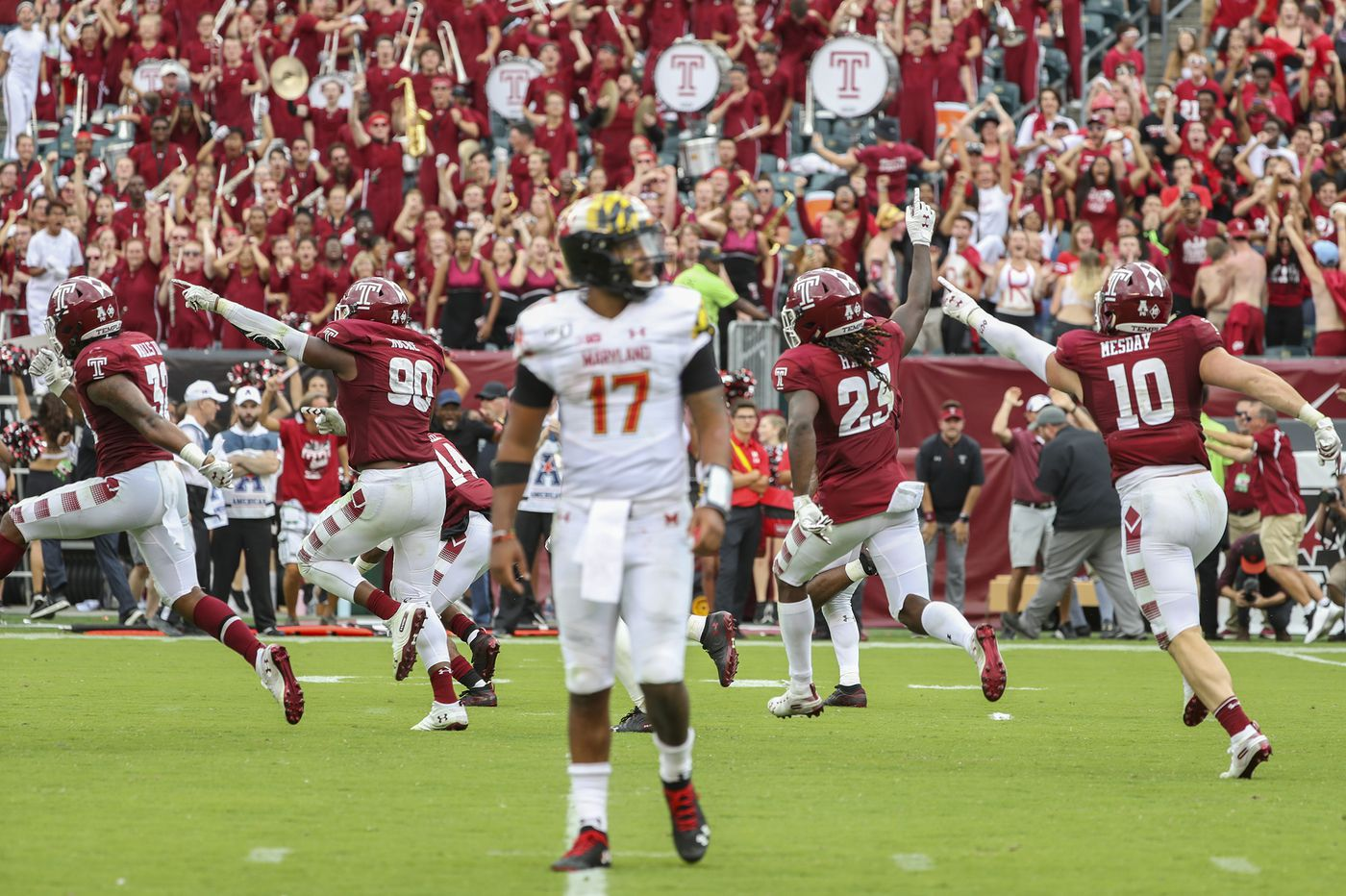 Temple's defense makes its stand against Maryland, again and again.