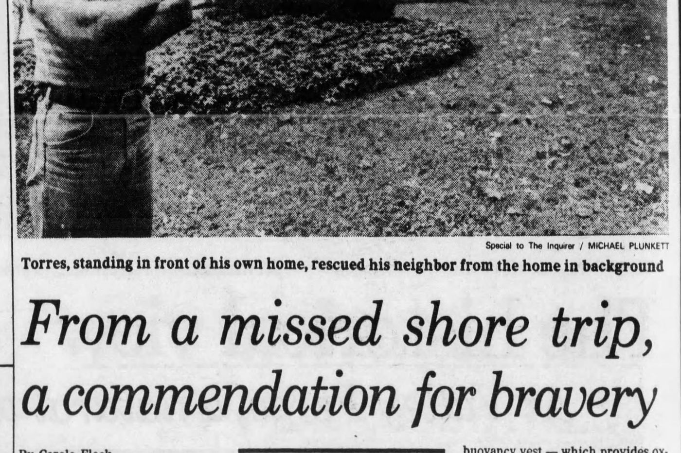 From The Inquirer archives: From a missed Shore trip, a commendation for bravery
