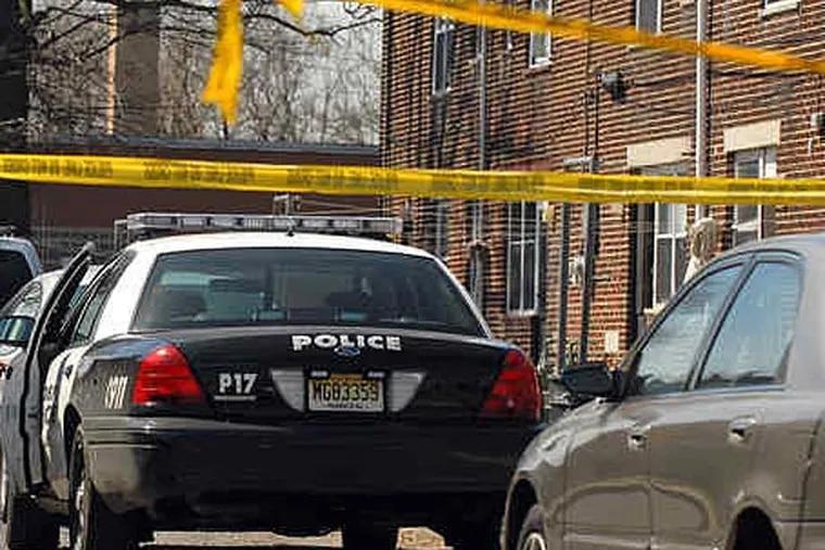 File photo: Camden police car, police tape