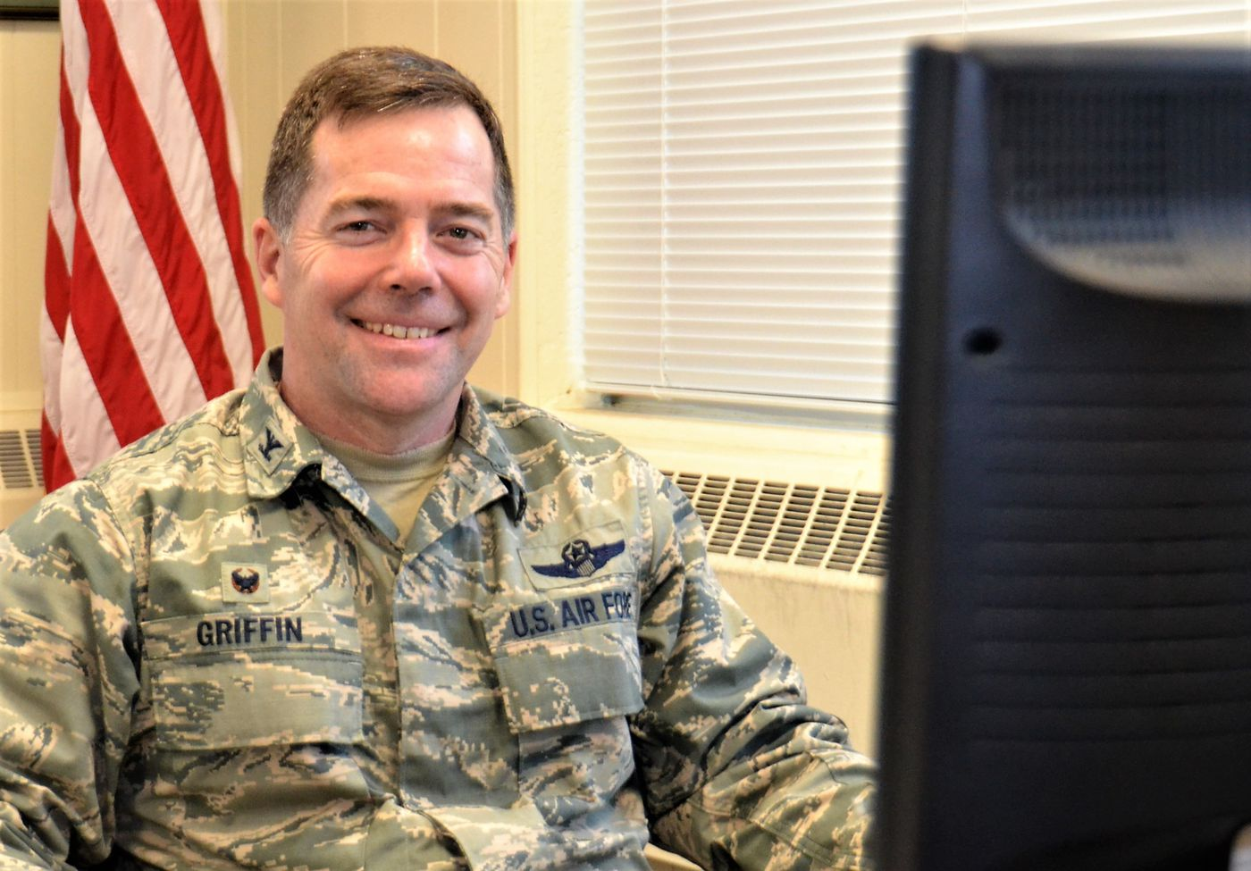 Col. Bill Griffin, 111th Attack Wing commander, has come under fire from a fellow commander and women at the Horsham Air Guard Station.