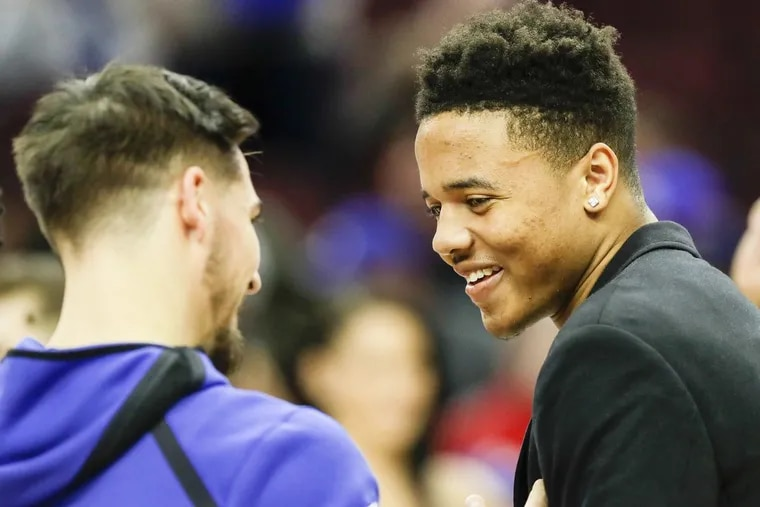 With Markelle Fultz's return and T.J. McConnell (left) could lose a significant amount of minutes in the playoffs.