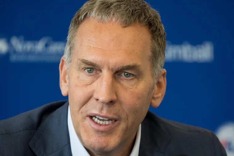 Brian Colangelo, president of basketball operations for the Sixers, was linked to five anonymous social media accounts that shared criticisms about current and former Sixers players and executives.