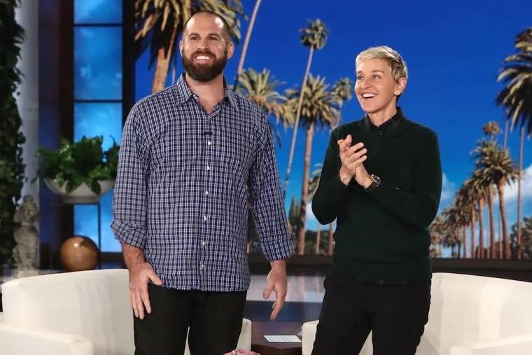 Jon Dorenbos and Ellen DeGeneres