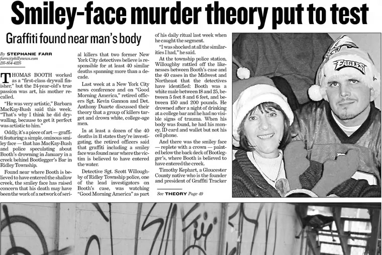 A Philadelphia Daily News story about the death of Thomas Booth from May 8, 2008