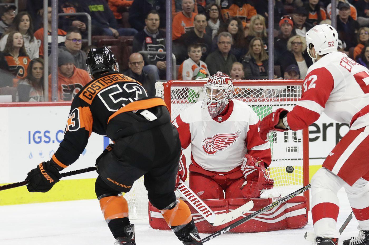 Travis Konecny's goal gives Flyers a 6-5 OT win over Detroit