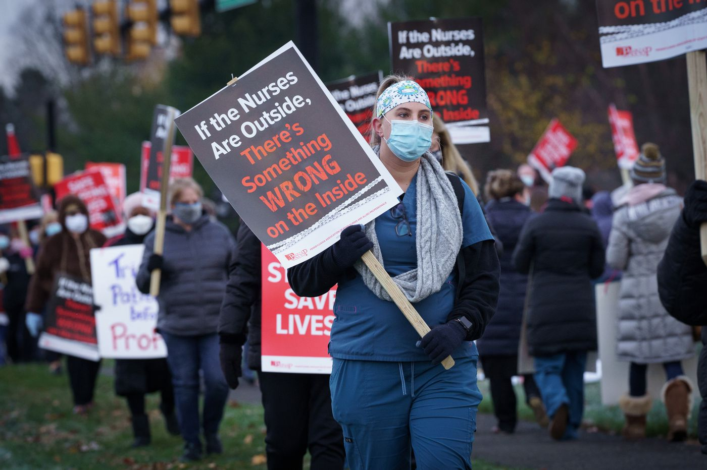 As coronavirus cases rise, 800 Bucks County nurses go on strike over 'dangerous' staffing levels