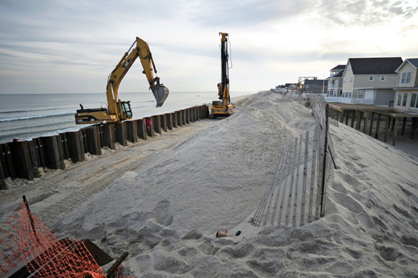 Seawall project nearing completion on Jersey Shore